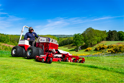 Ventrac Contour Mower - Ventrac's Contour Mower features a 83 inch working width making quick work of any mowing job regardless of the terrain without sacrificing quality of cut.