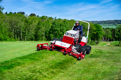 Ventrac Contour Mower - Slopes, hills, low spots, waterways, uneven terrain, and saturated turf are Ventrac's specialty.