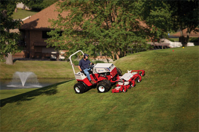 Ventrac 4500P with Contour Mower - The Ventrac 4500 is the perfect solution for golf courses with all-wheel drive, exceptional slope performance and the Contour Mower.