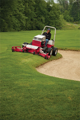 Ventrac 4500 with Turf Tires and Contour Mower - Golf courses trust Ventrac for maintaining their vast expanses of various turf configurations.