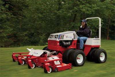 Ventrac 4500P Rolls Along with the MJ480 - Smooth hydrostatic drive and greater articulated steering control makes the Ventrac maneuverable and comfortable for whatever your task may be.