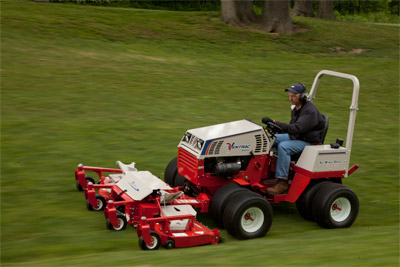 Ventrac 4500P Smooth Sailing with the MJ840 Mower - With a maximum forward speed of 10 mph and an 83 inch wide cut you will cover a lot of ground in little time.