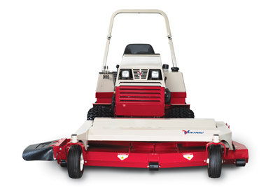 Ventrac Offset Deck - The MT720 Side Discharge Deck is offset 6-inches to trim closer to obstacles.