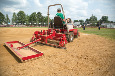 Ballpark Groomer with Drag Kit - Add even more finesse with the drag kit for the Ballpark Groomer for a finer finish.