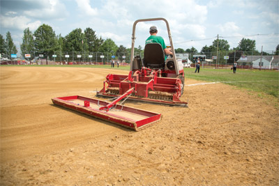Ventrac Ballpark Groomer with Drag Kit - The drag kit for the groomer has a steel drag for wet conditions or the coco mat for dry fields.