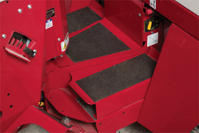 Raised Foot Rest Platforms for 4500 - Raises the height of the foot rests to increase comfort for operators under a certain height.