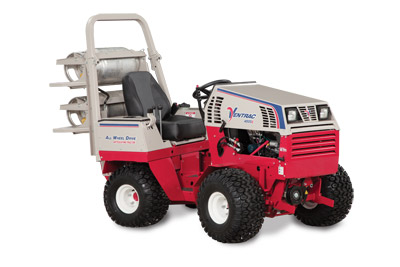 Ventrac 4500Z with Propane Kit - The 4500Z, shown with optional propane kit, can switch between gas and propane on the go.