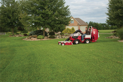Ventrac 4500 and Vacuum Collection System - Mow your grass leaving only a beautiful cut lawn behind and not piles of clippings.