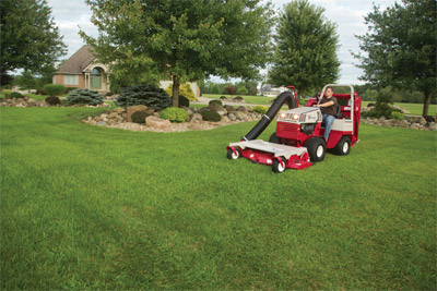 Ventrac 4500 Mowing with 60 inch Deck and Vacuum System