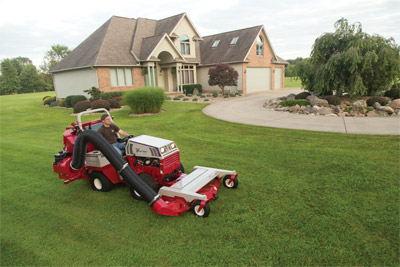 Ventrac 4500Y using the RV602 Vacuum - The 10 HP Vanguard engine by Briggs and Stratton powers the Vacuum leaving nothing behind.