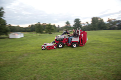 Ventrac 4500 Sailing along with the RV602 at work - The Vacuum System for the Ventrac 4500 is so powerful that even at faster speeds it still does its job.