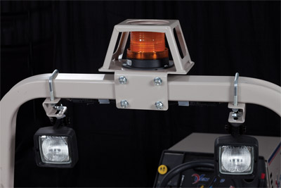 Strobe & Work Lights for 4500 off - shown with lights off