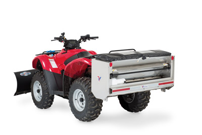 SA250 Spreader Mounted on ATV Rear Left - Built to be used with many types of vehicles