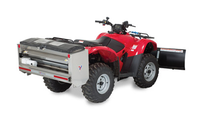 SA250 Spreader Mounted on ATV Rear Right - Built to be used with many types of vehicles