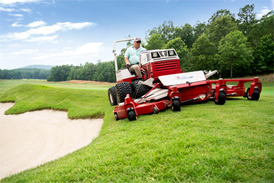 Ventrac Contour Mower - If you have a lot of uneven turf or unusual hills and slopes and still need to have an even and professional cut then the Ventrac 4500 and Contour Mower are the right tools for the job.