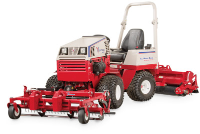 Ventrac Ballpark Renovator & Groomer profile - Ballpark maintenance so easy one person can do it.