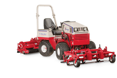 Ventrac Ballpark Renovator & Groomer profile right - Renovator and groomer are easily controlled with a touch of the hand.