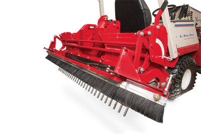 Closeup of Ballpark Groomer Brush - Add the finishing touch on a well-groomed infield with the grooming brush