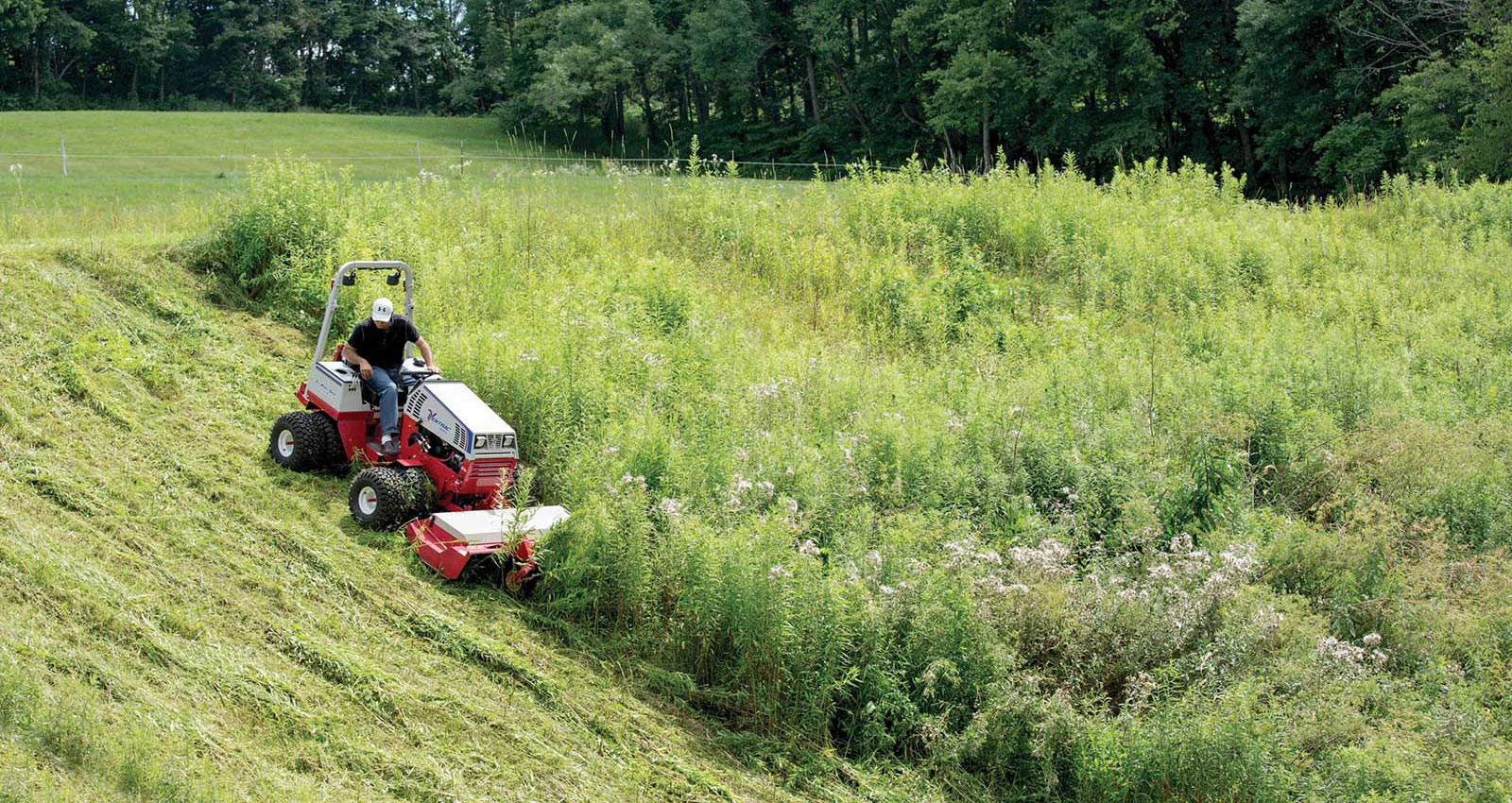 Rough Mowing on a Hill