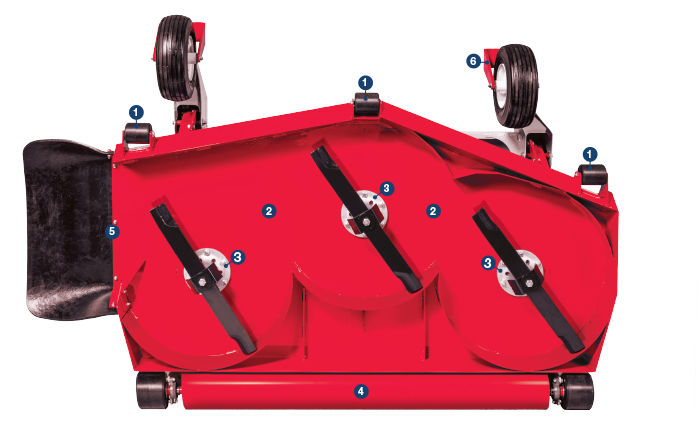 Bottom View of MS Finish Mower Deck