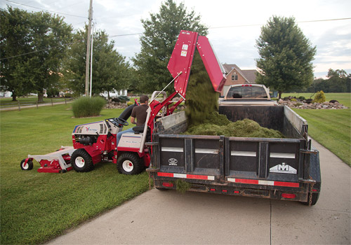 Collect Mulched Grass & Leaves