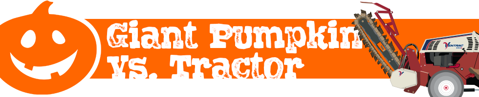 Giant Pumpkin vs Tractor Banner