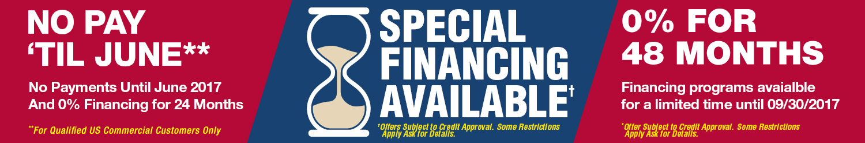 Zero Percent Financing Available