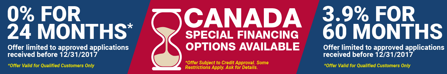 Canada Financing Options Available